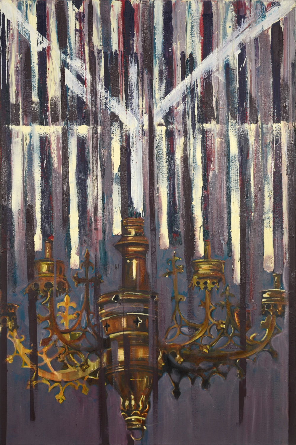 Chandelier II, Oil on canvas, 160x100 cm, 2012