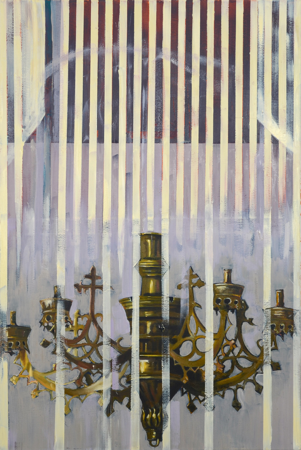 Chandelier I, Oil on canvas, 160x100 cm, 2012