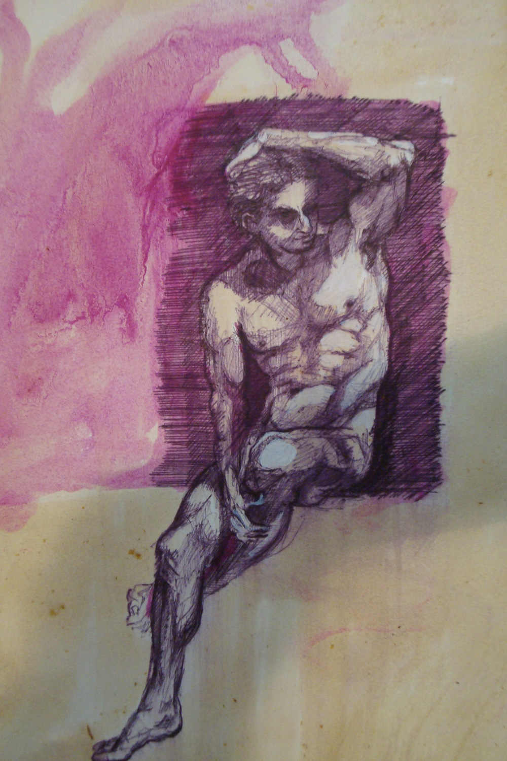 Untitied, Ballpoint on paper, 30x50 cm, 2012