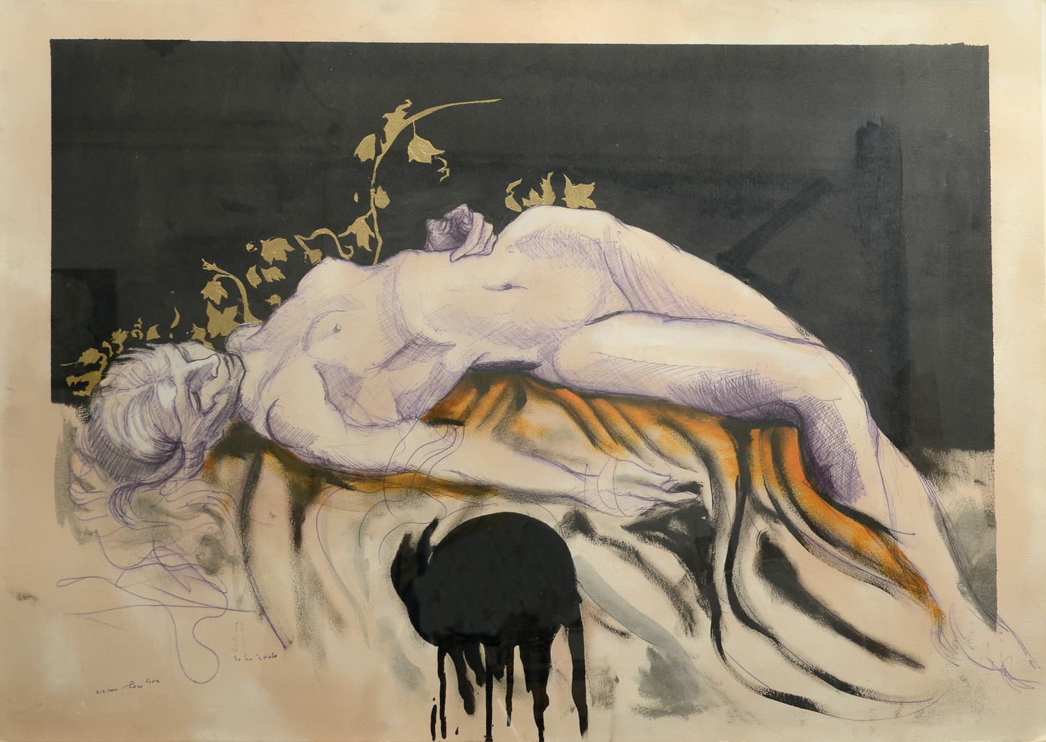 Jezebel, Mixed media on paper, 110x80 cm, 2012