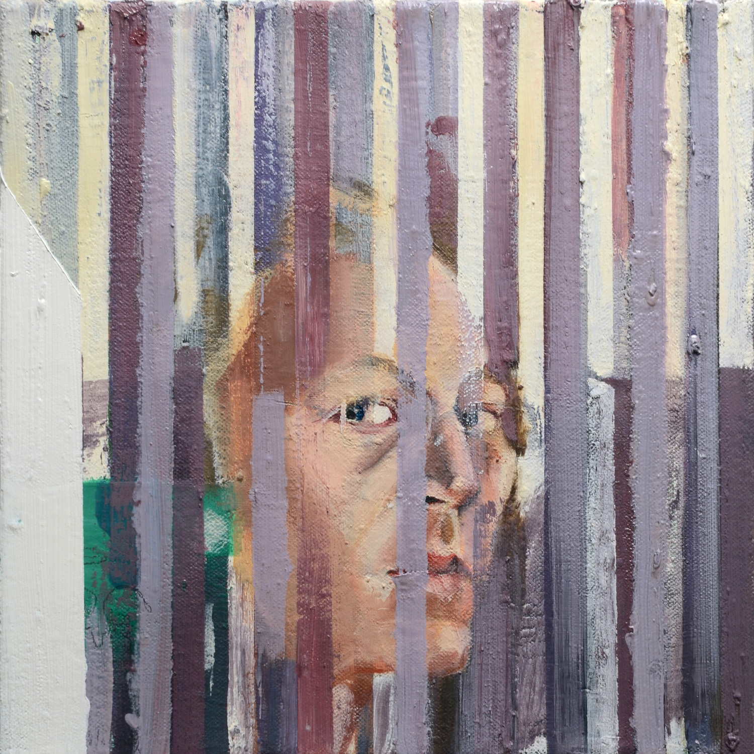 Self Portrait, Oil on canvas, 40x40 cm, 2012