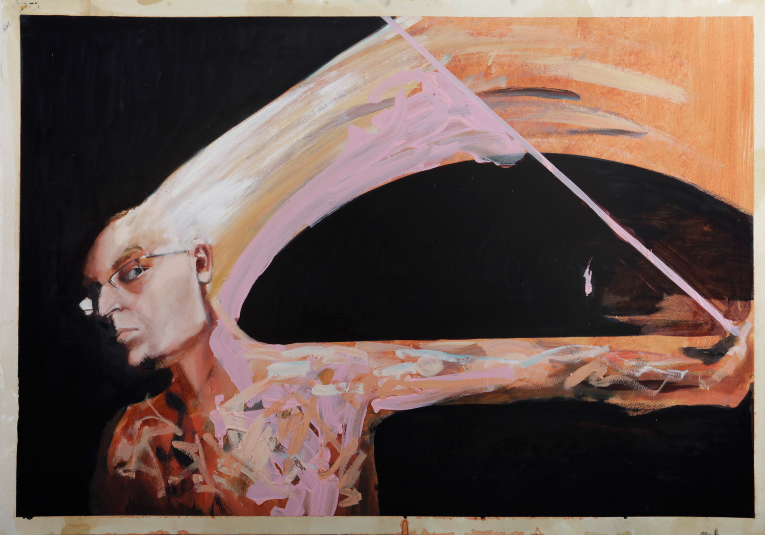 Samson, oil on paper 70x100 cm, 2013