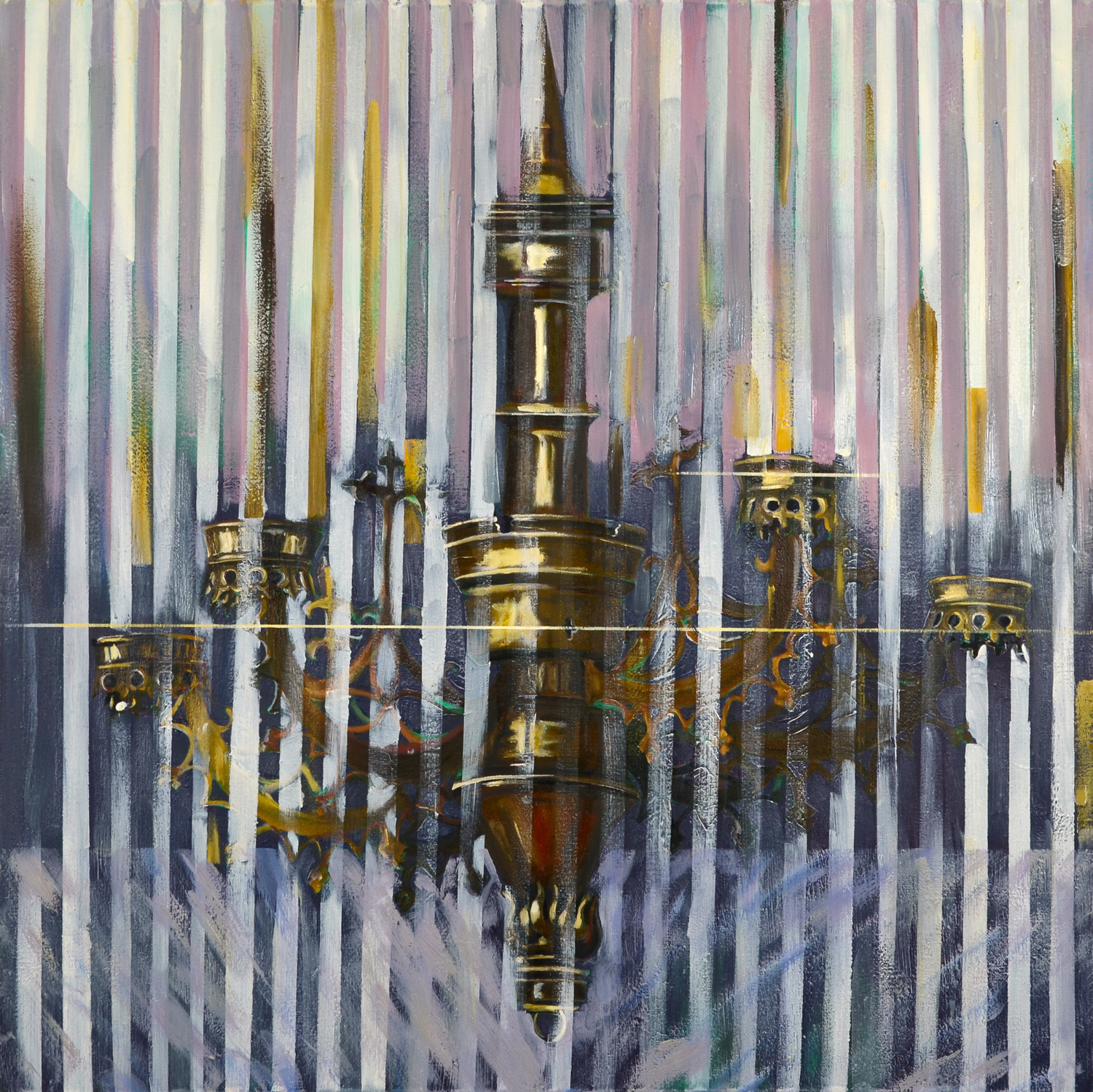Chandelier II, Oil on canvas, 100x100 cm, 2012