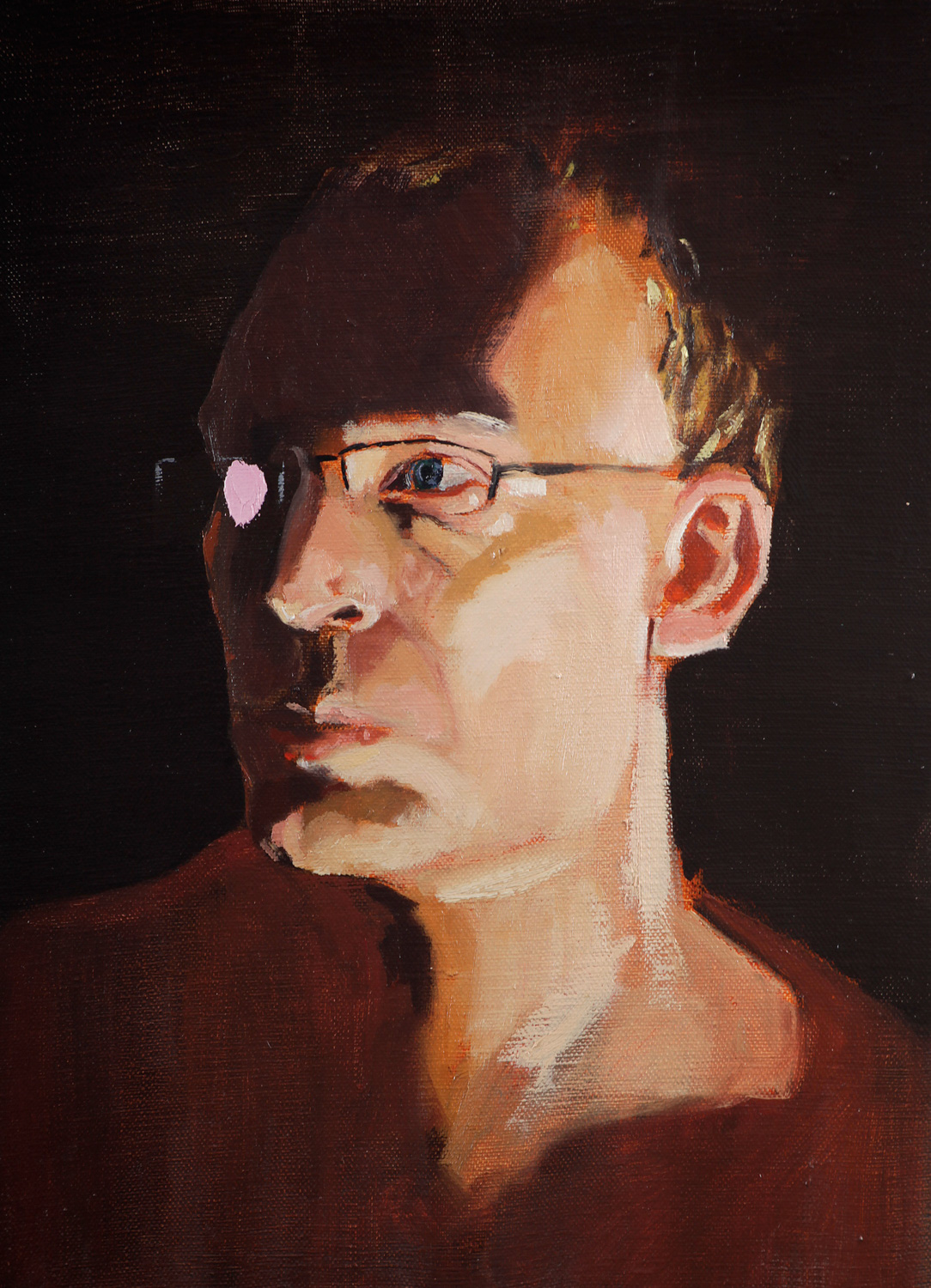 Self portrait, Oil on canvas, 30X40 cm, 2013