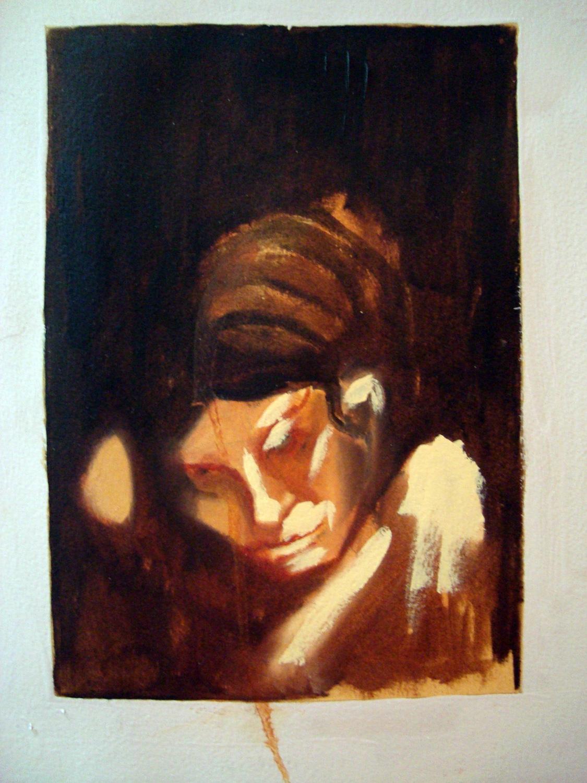 Forgotten Loves I, Oil on paper, 30x60 cm, 2010