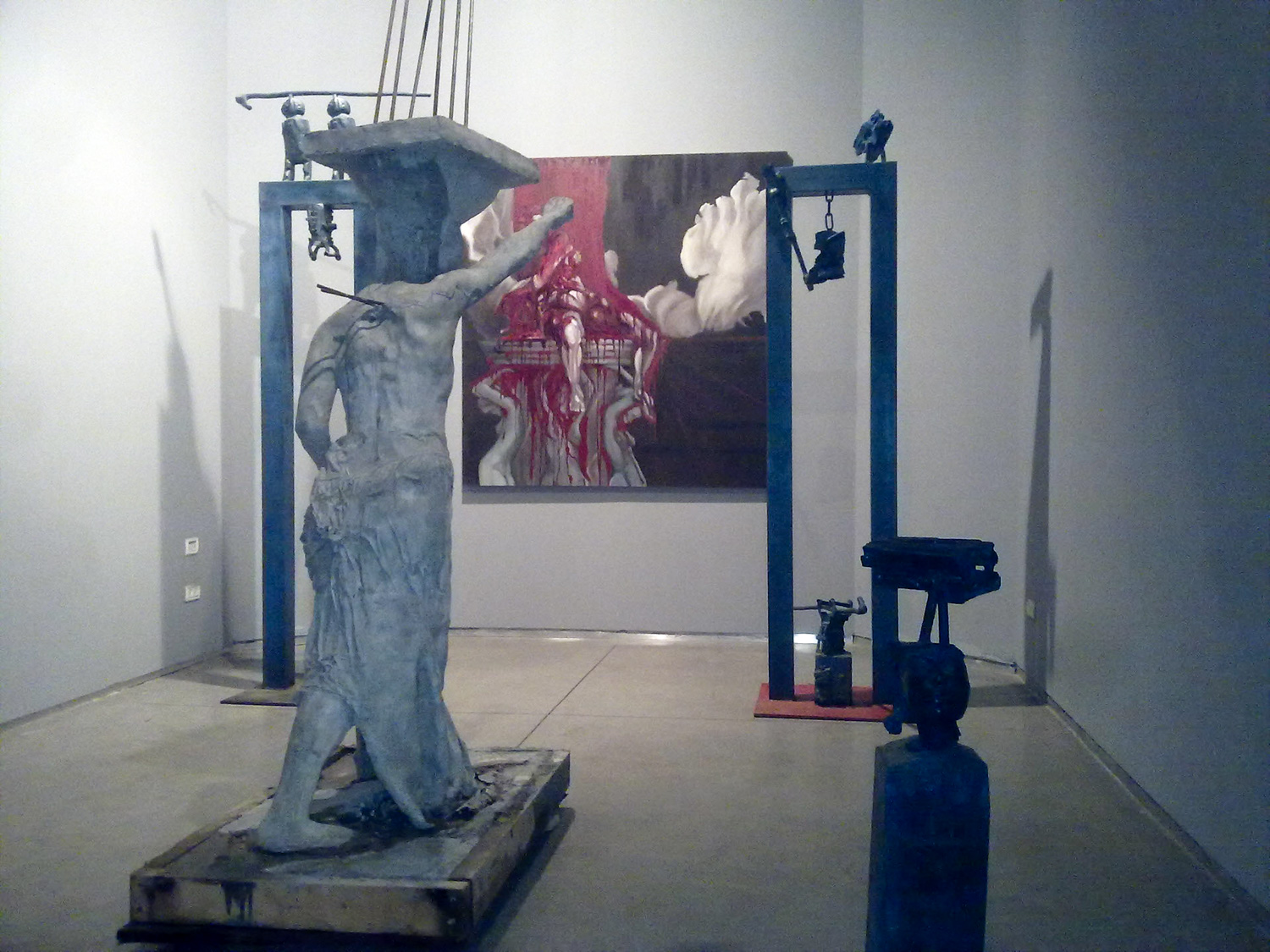 """Installation """"Crescendo"""" with Igal Tomarkun and Tsuki Garbian at """"Sommer"""" contemporary art gallery, 2011"""