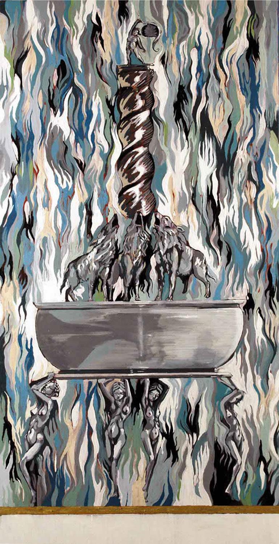 Boaz, Oil on canvas, 160x100, 2010