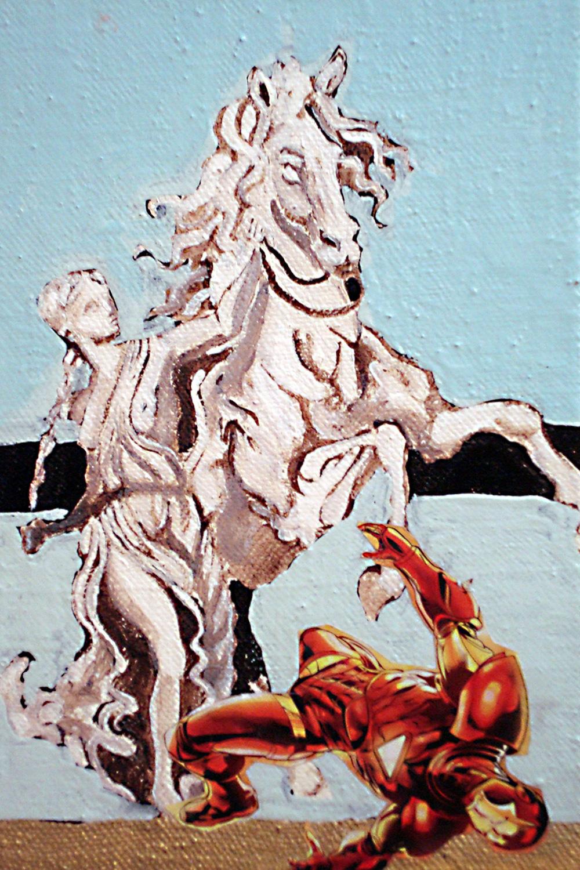 Iron Man IV, Collage on canvas, 20x30 cm, 2011