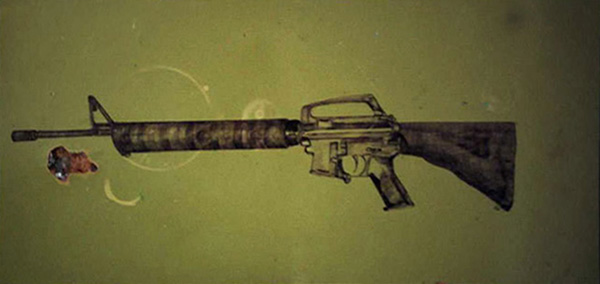 M16. Ballpoint pen on school table, 80X150 cm, 2002