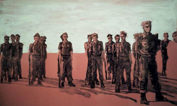 Men, Ballpoint pen on Formica, 2004