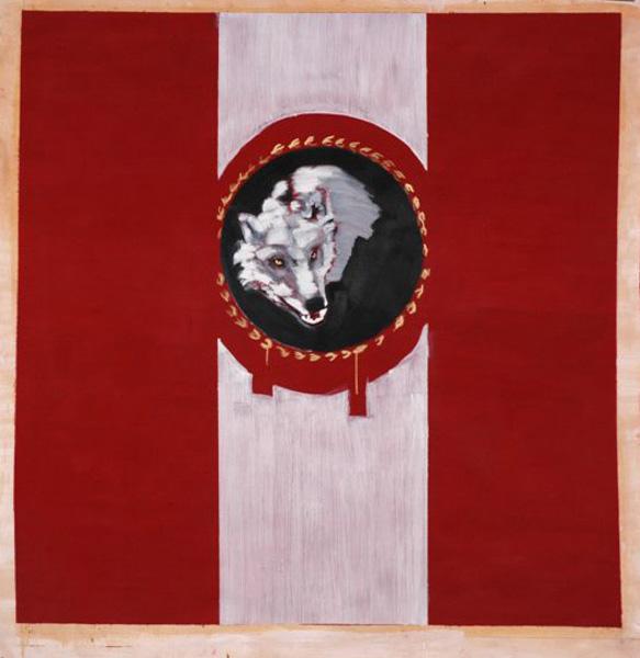 Flag, Oil on paper, 150x150, 2006