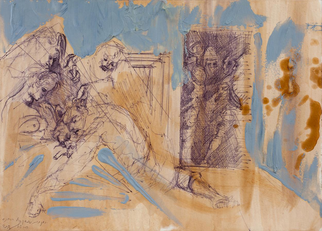 Samson (rubens) I, Ballpoint on paper, 25x30 cm, 2013