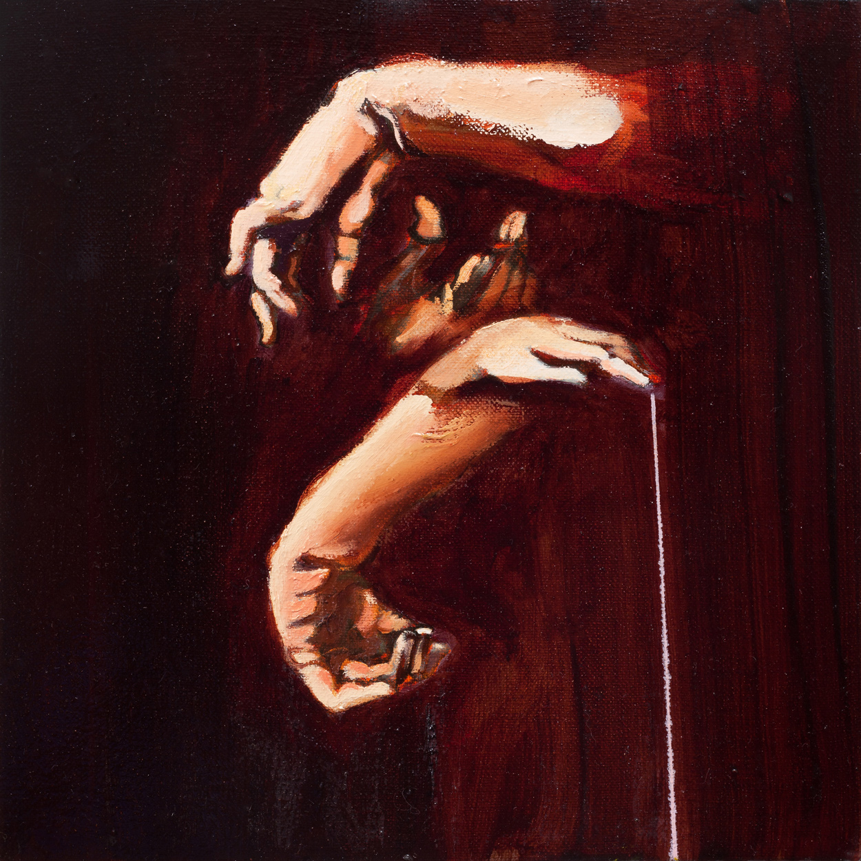 Samson (rubens,hands), Oil on canvas, 40x40 cm, 2013