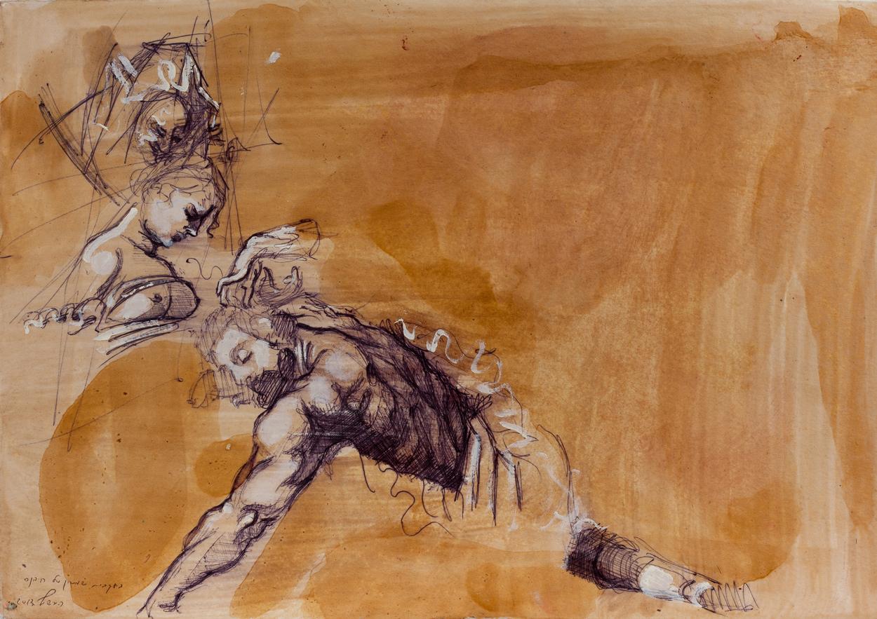 Samson (rubens) II, Ballpoint on paper, 25x30 cm, 2013