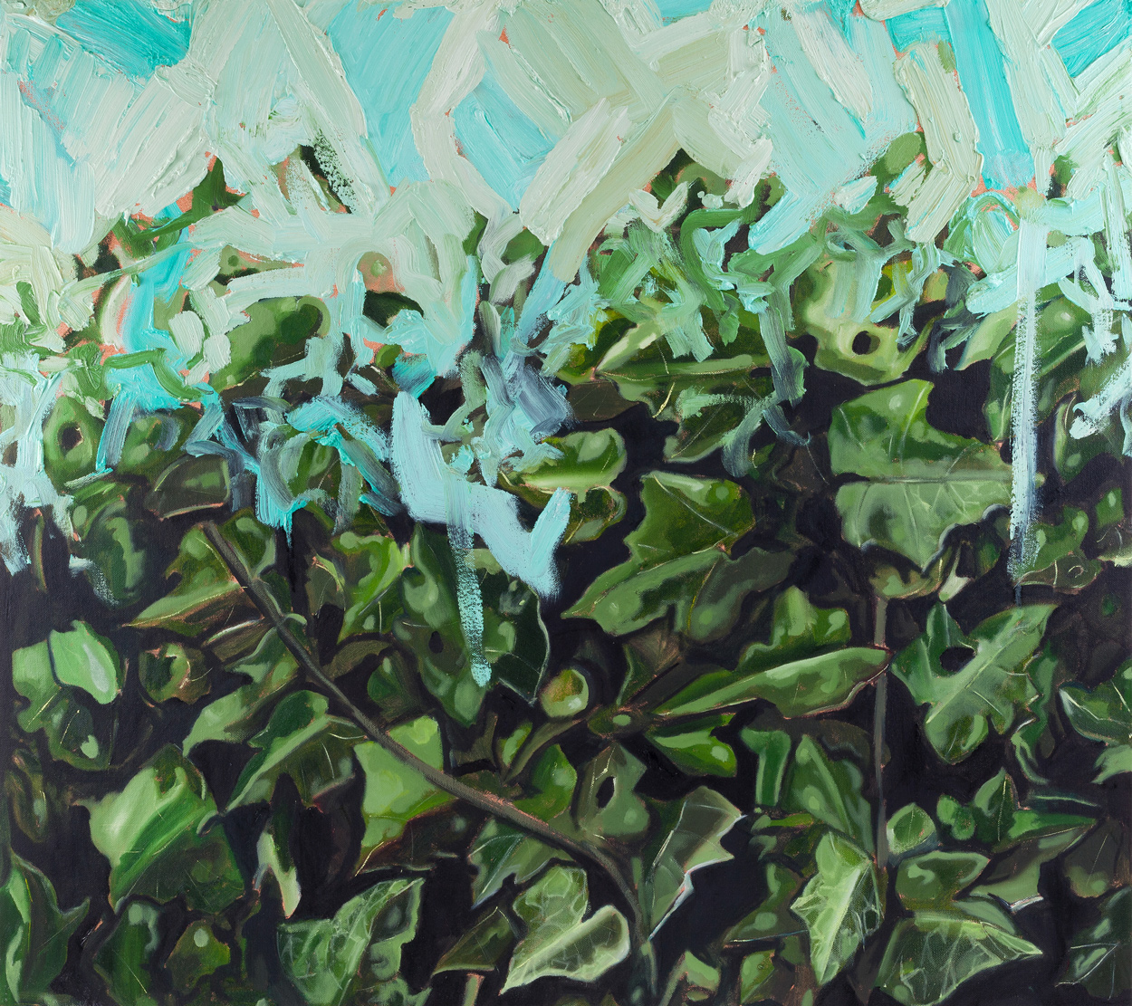 Ivy I, Oil on canvas, 80x90 cm, 2013,
