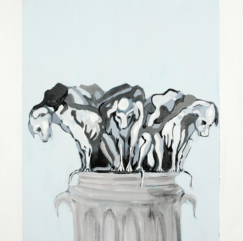 Piller V, Oil on canvas, 50x50 cm, 2008