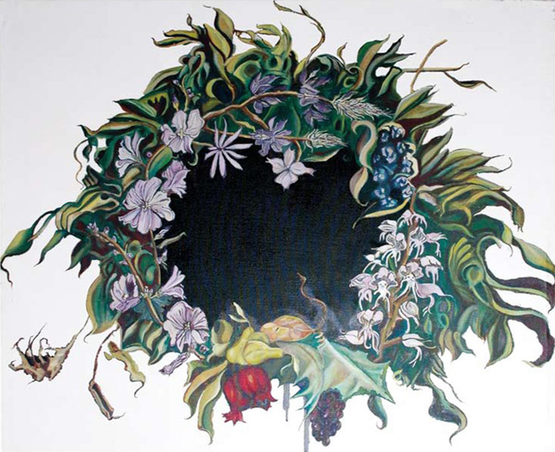Wreath I, Oil on canvas, 120x150 cm, 2008