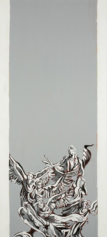 Column (Boaz), Oil on canvas, 100x40 cm, 2008