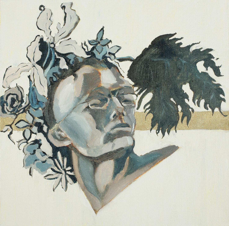 Self Portrait, Oil on canvas, 50x50 cm, 2008