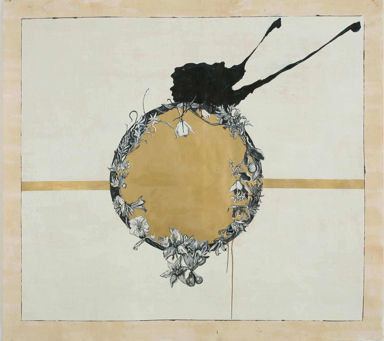 Wreath III, Oil on paper, 150x150 cm, 2008
