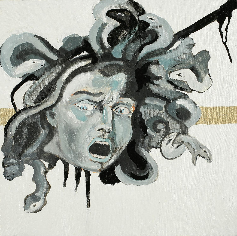 Medusa, Oil on canvas, 50x50 cm, 2008