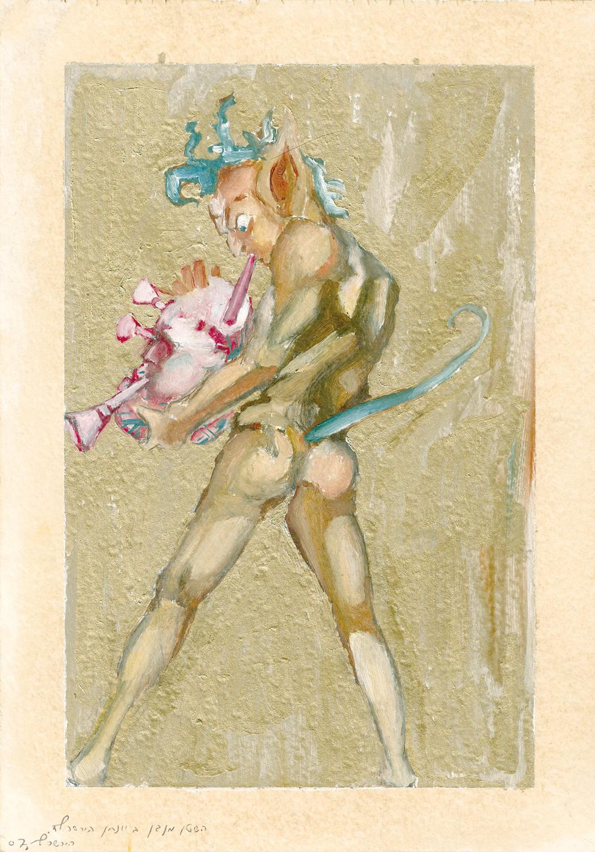 The Devil Plays Jonathan Hirschfeld, Oil on paper, 2007