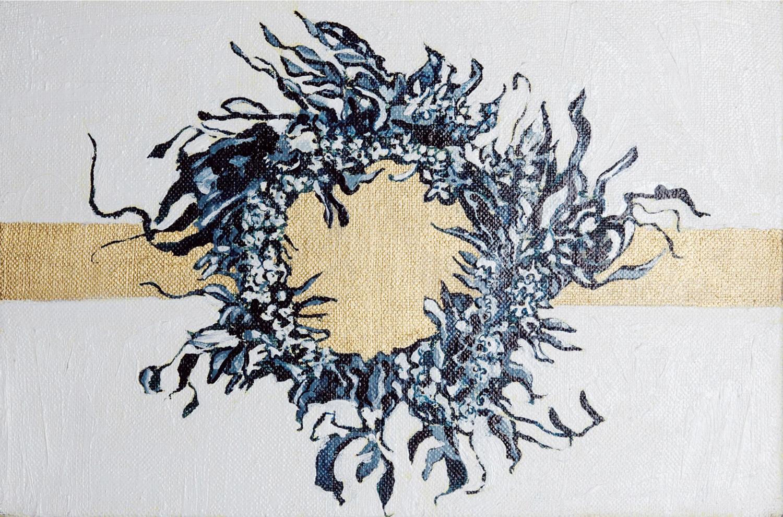 Wreath V, Oil on canvas, 20x30cm, 2008