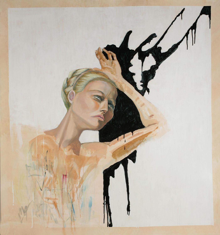 Pyrah, Oil on paper, 150x150 cm, 2008