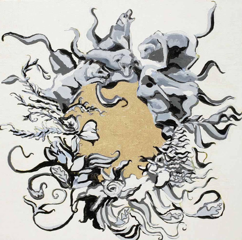 Wreath VII, Oil on canvas, 50x50 cm, 2008