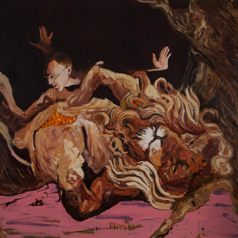 Samson II, Oil on Canvas, 170x170 cm, 2013