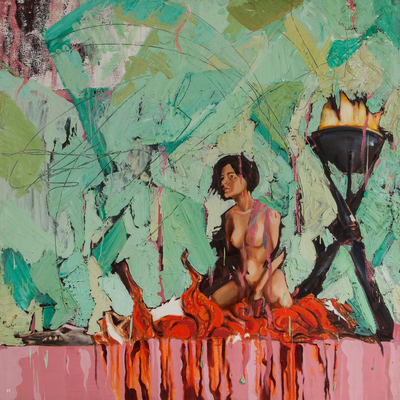 Samson, Oil on canvas, 170x170 cm, 2013