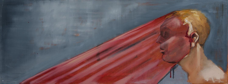 Lamp, Oil on canvas, 60x20 cm, 2016