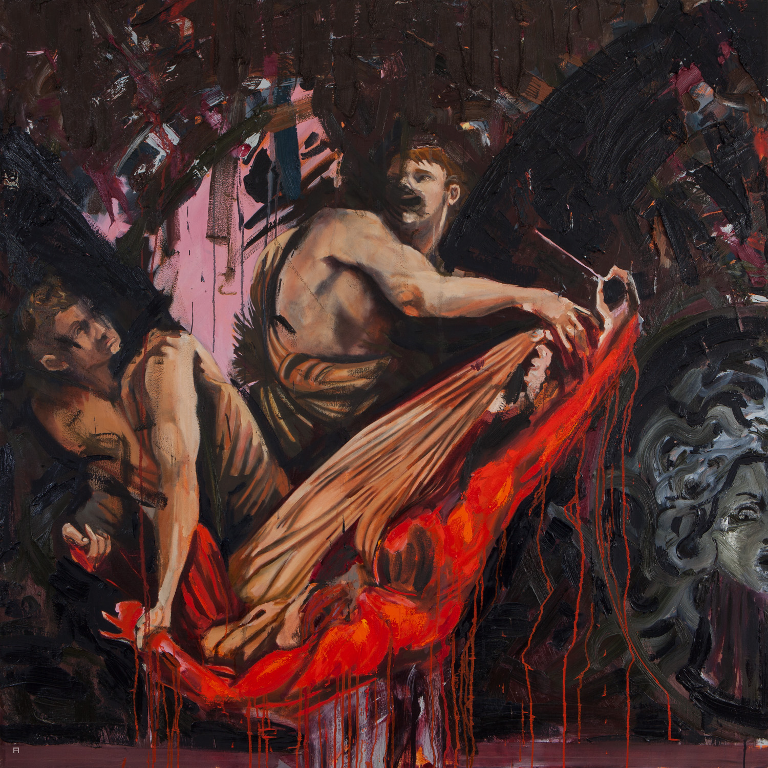 Lament, Oil on canvas, 150x150 cm, 2016