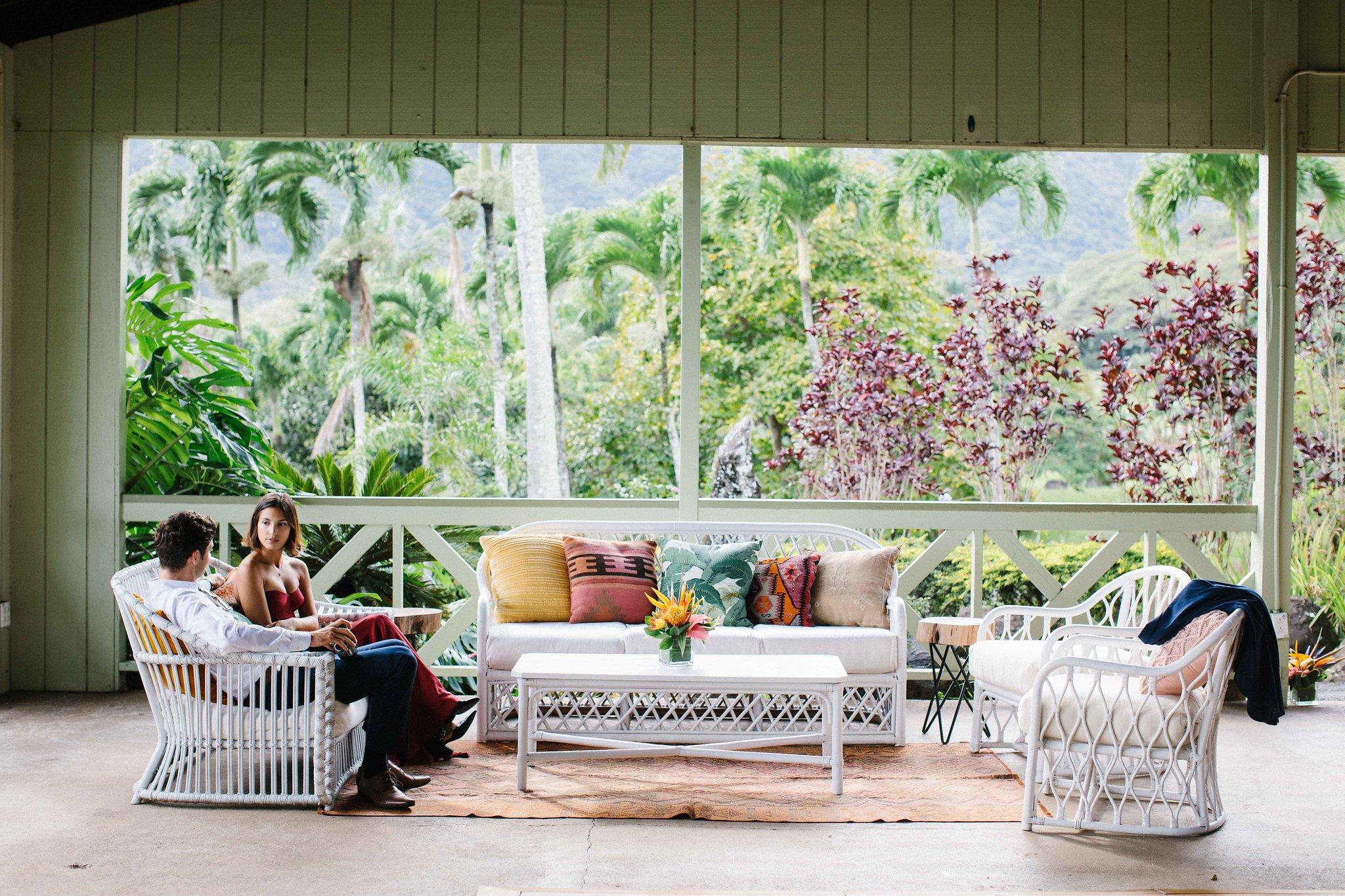 White Rattan Seating ,  White Rattan Coffee Table ,  Pillows & Textiles