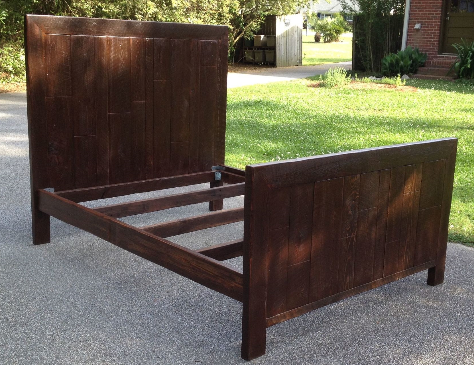 "Staggered Plank Queen bed    66"" wide x 81"" long 