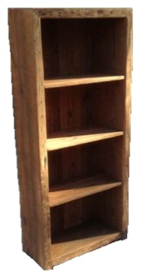 """Large Bookcase    5' tall x 27"""" wide x 12"""" deep  Natural finish.  $395"""