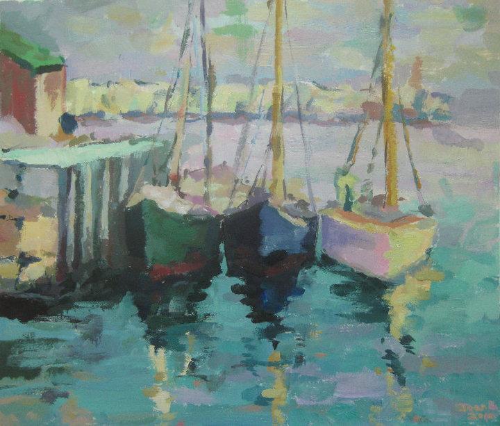 Boats - Acrylic Painting