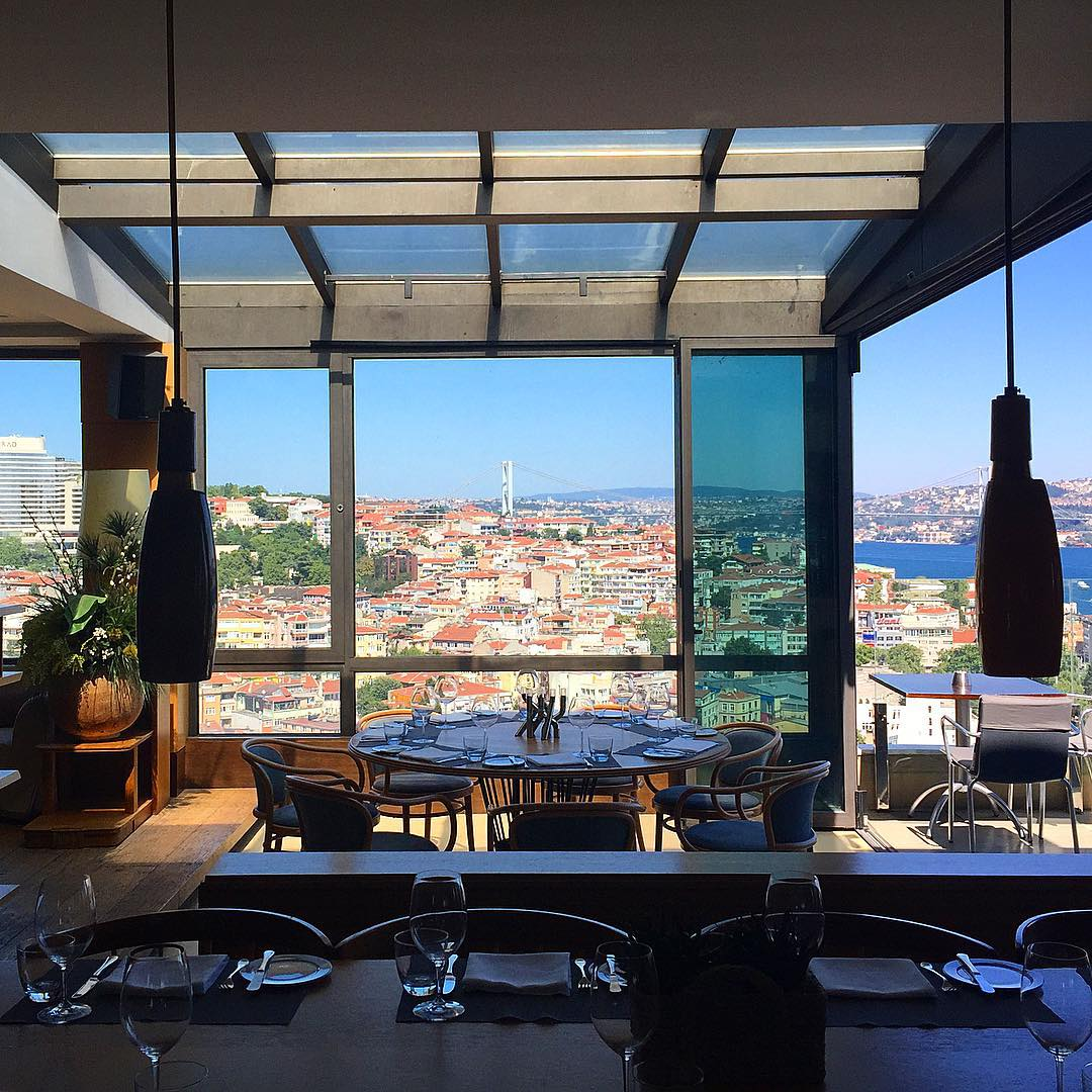 Istanbul has mastered the art of rooftop dining. View from VOGUE Restaurant  (PHOTO:  Katie Cline )