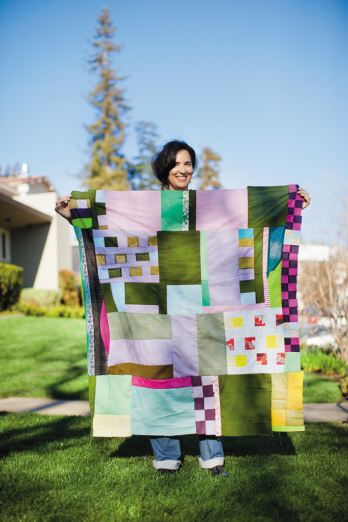 Score For Improv Round Robin, by Sherri Lynn Wood, from The Improv Handbook for Modern Quilters, photo by Sara Remmington
