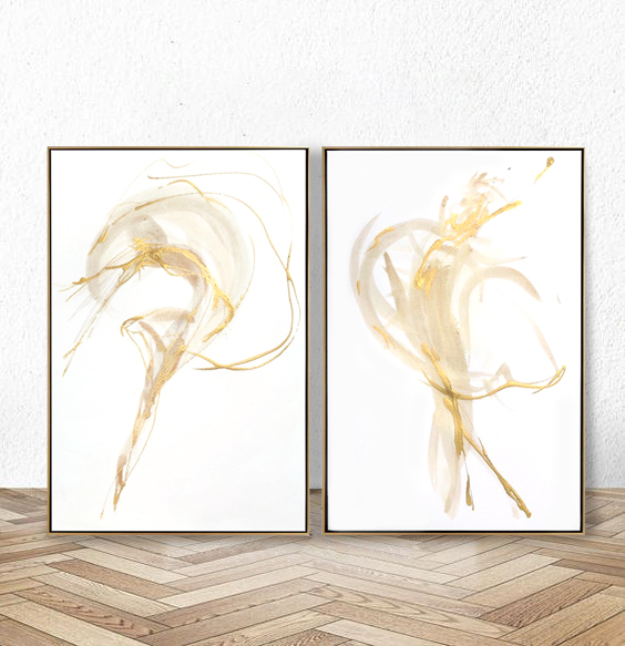 gold dancer paintings x2 resting on floor.jpg