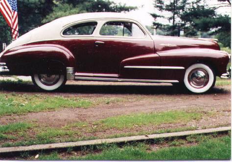 1948 Pontiac 2807-D Sedan Coupe 3rd Place 1991 Pontiac Oakland Club International Convention- Cleveland, Ohio