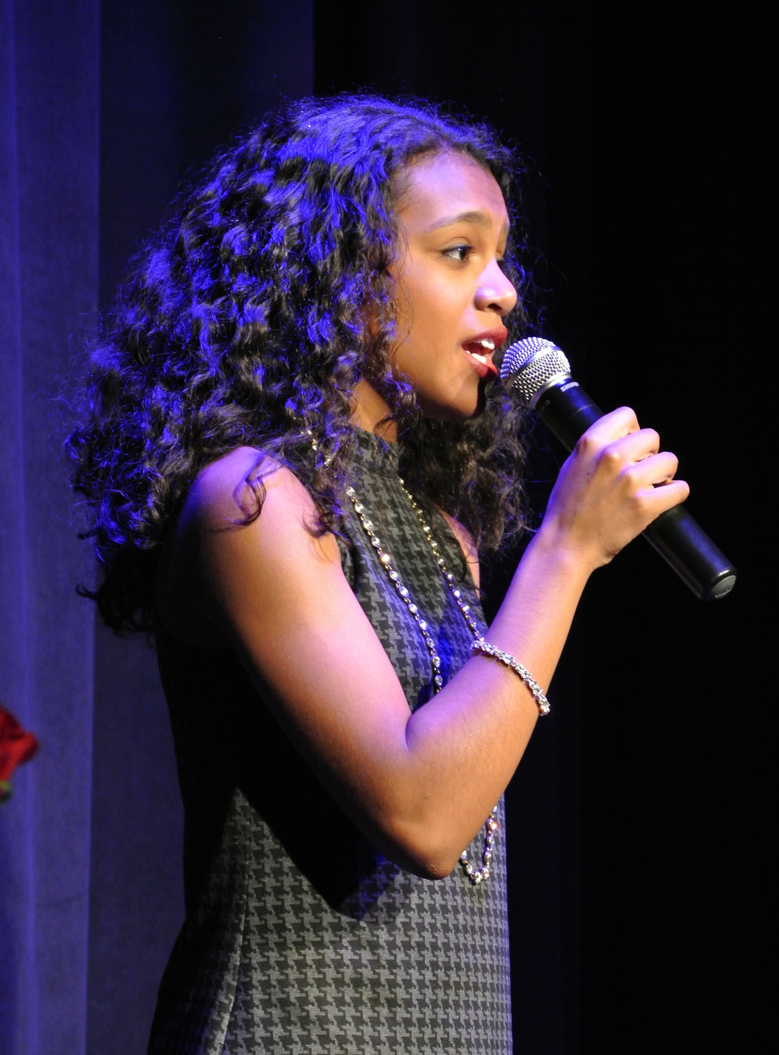 Voice student Yolanda performs at the 2016 Vocal Cabaret.