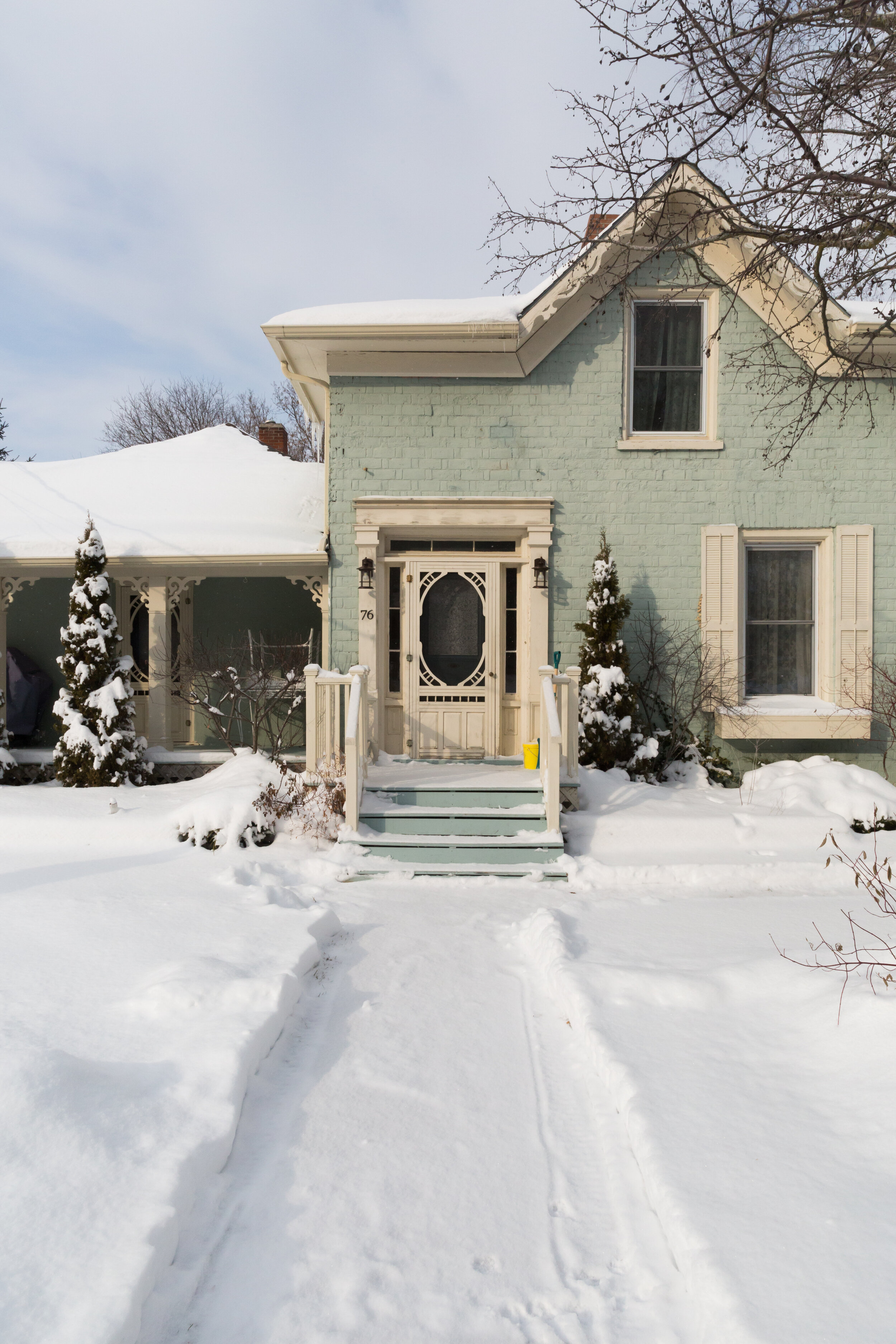 Easy winter access at The Ferg vacation rental Prince Edward County