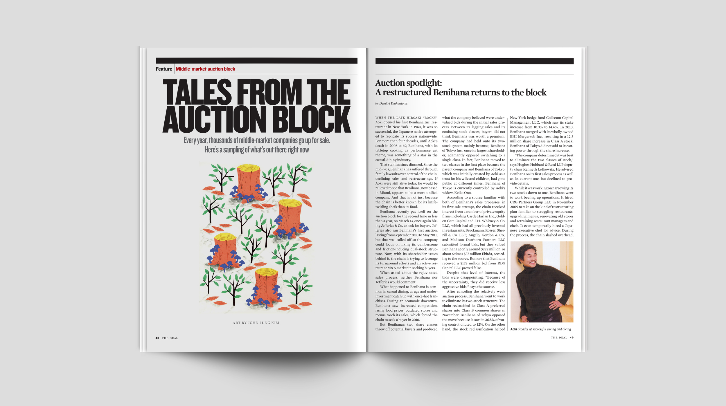 Tales from the Auction Block  Editorial Illustration