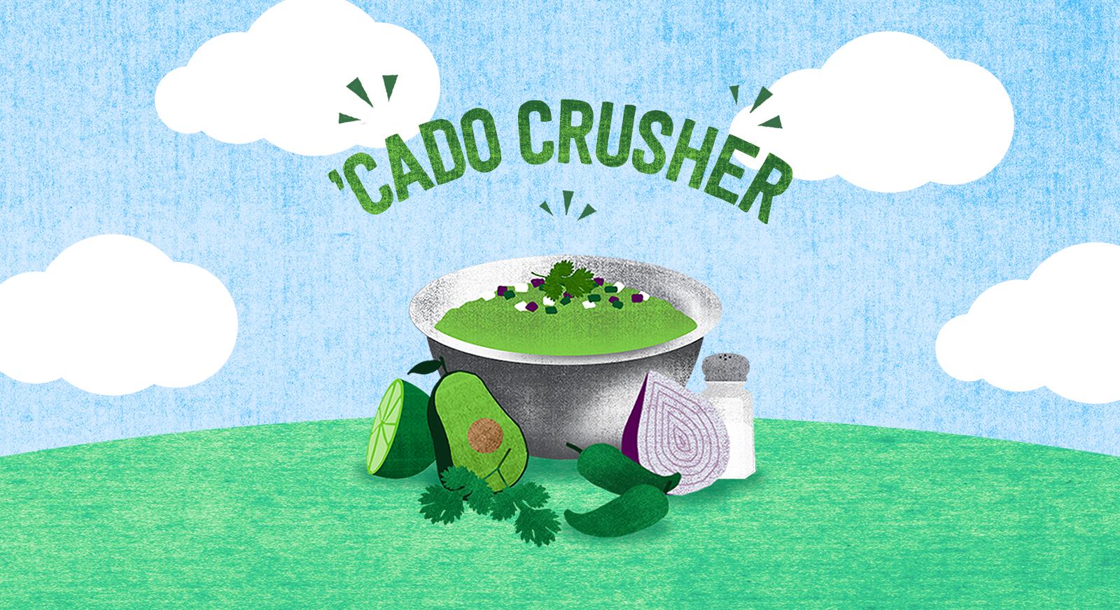 'Cado Crusher  Illustration • Responsive Web