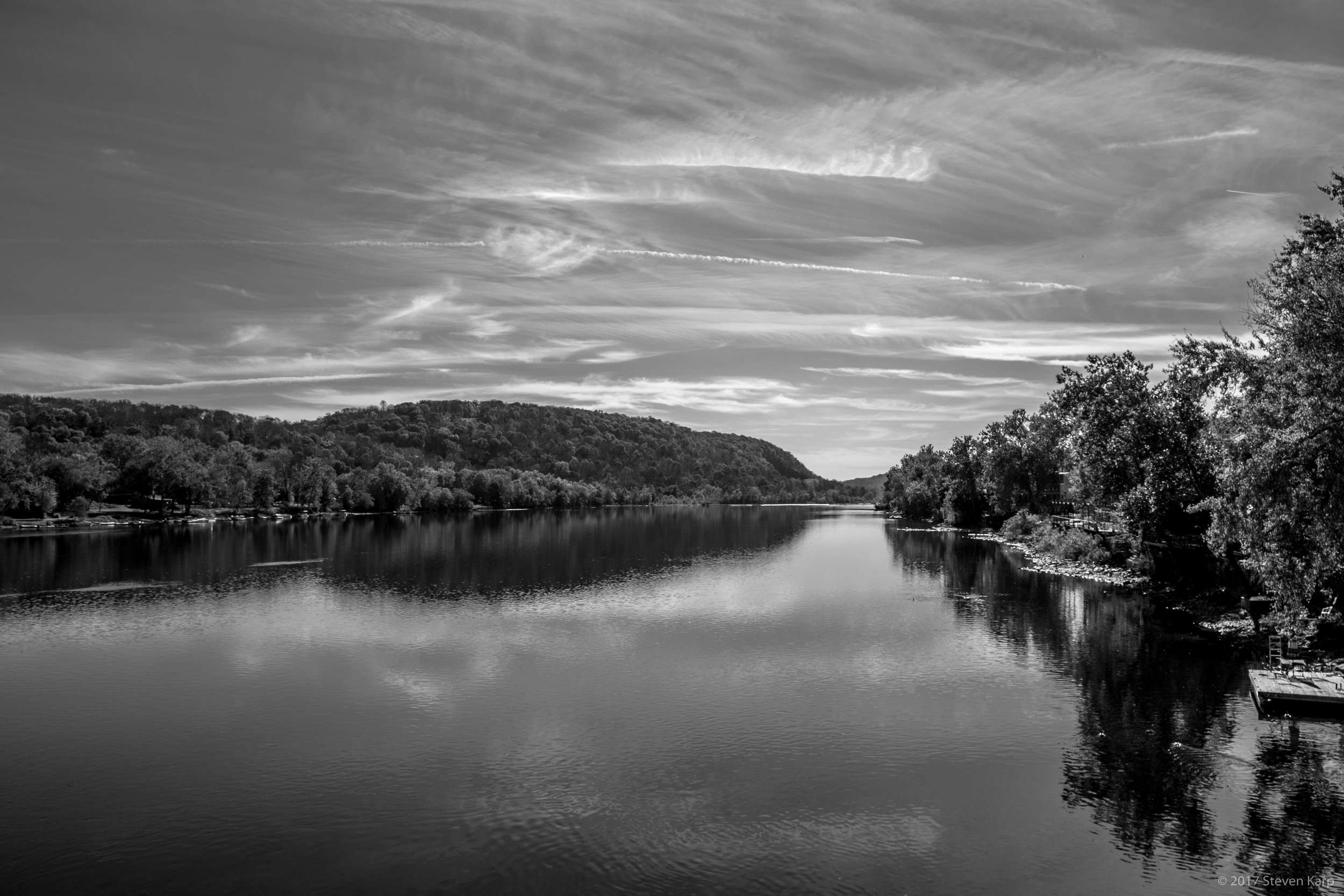 Clouds & Reflections, Delaware River