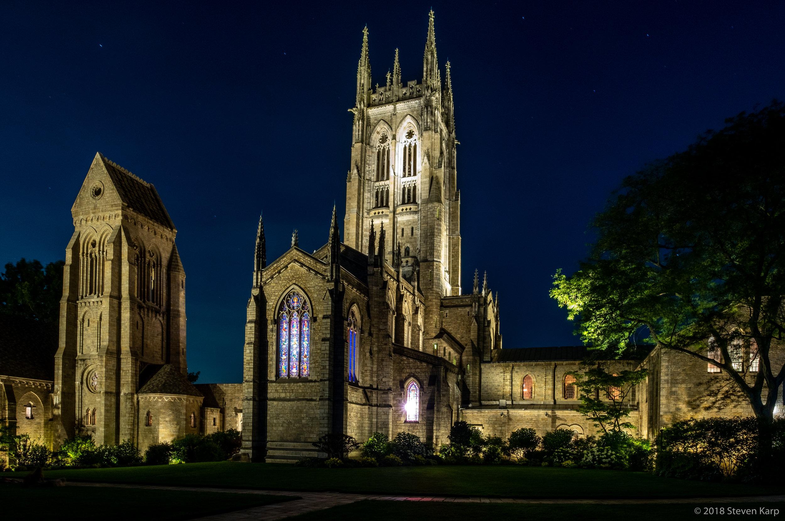 Bryn Athyn Cathedral, Night