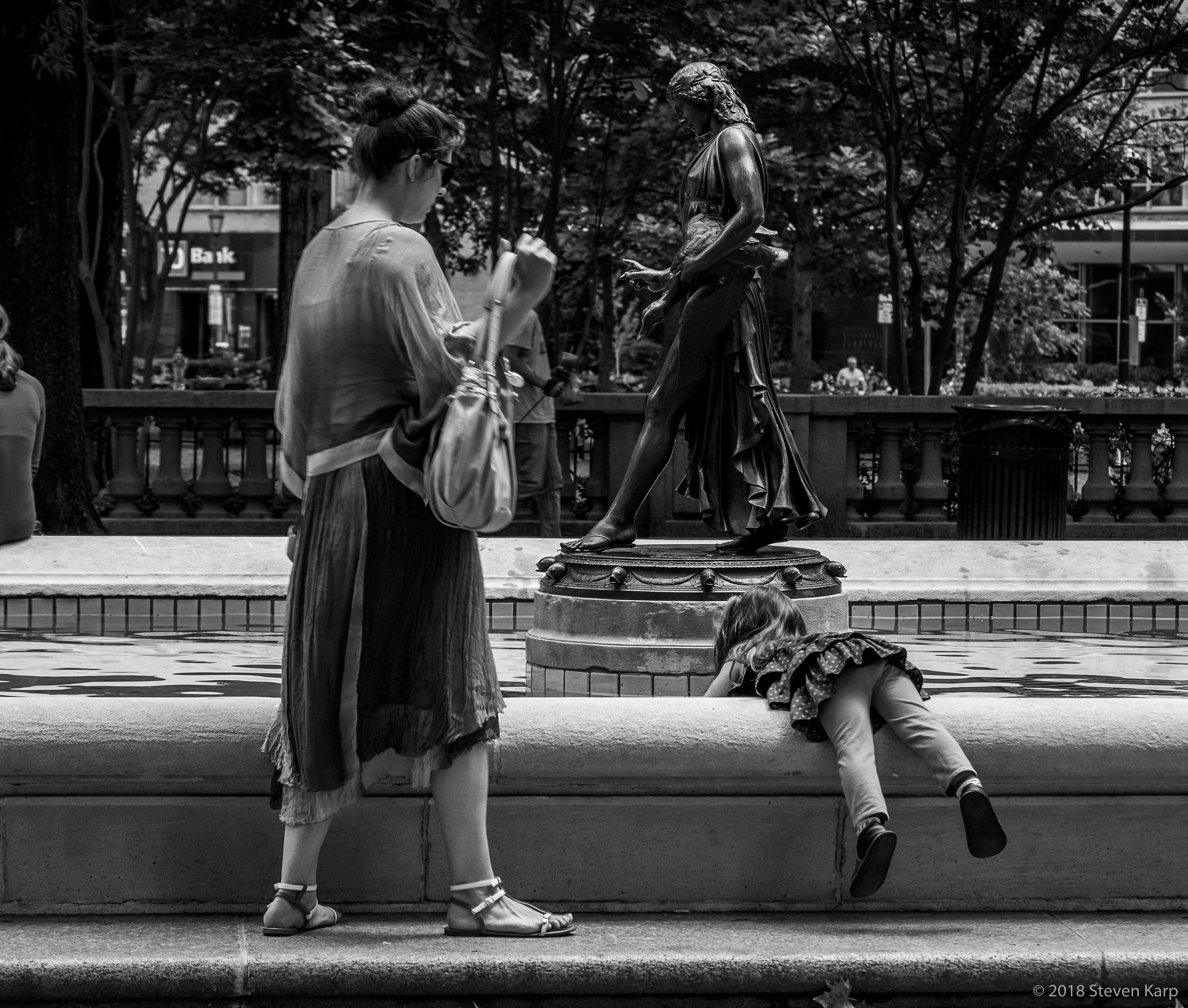 Duck Girl Fountain ©2018 Steven Karp