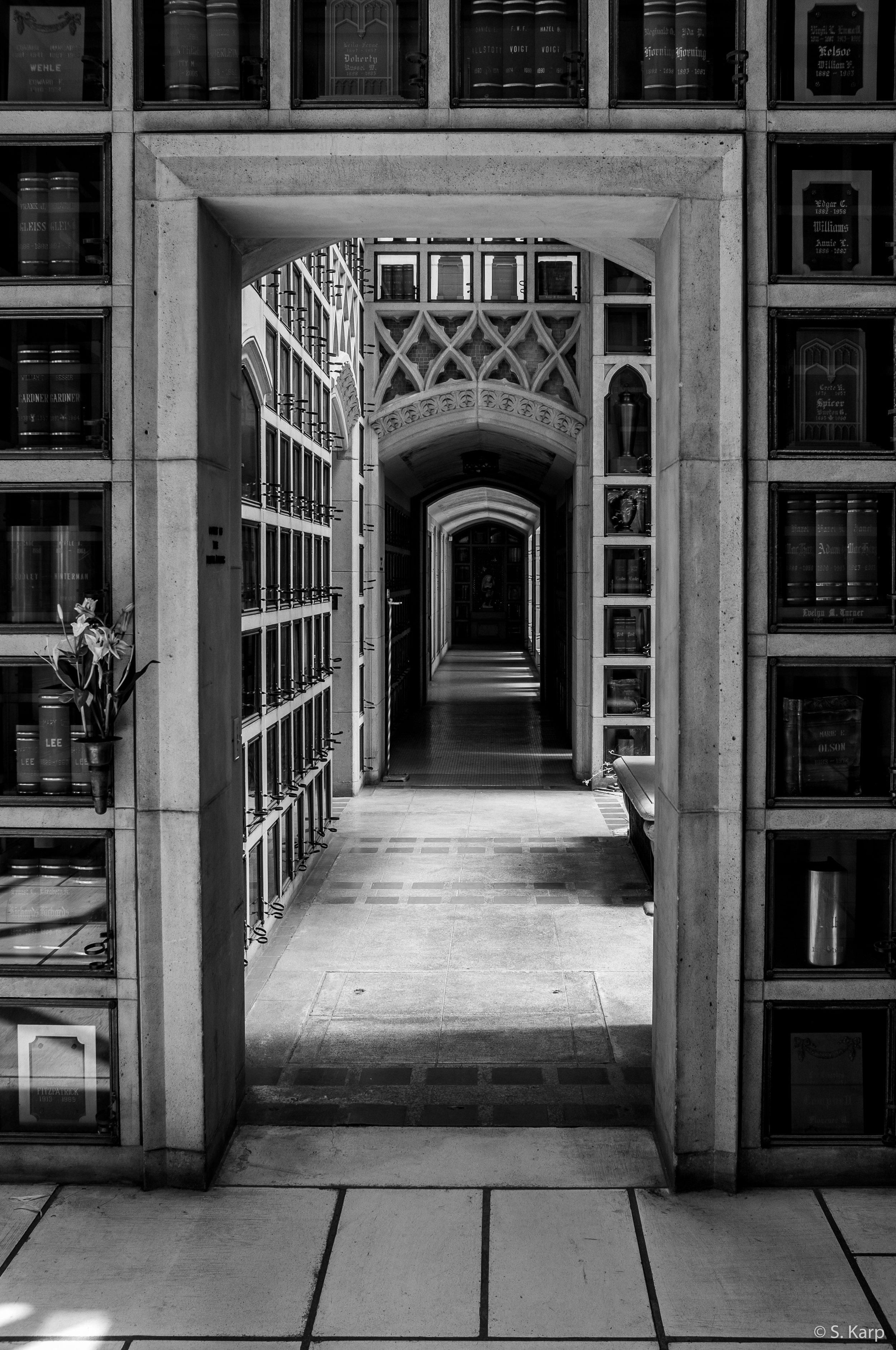 Columbarium, Oakland, California ©2019 Karp