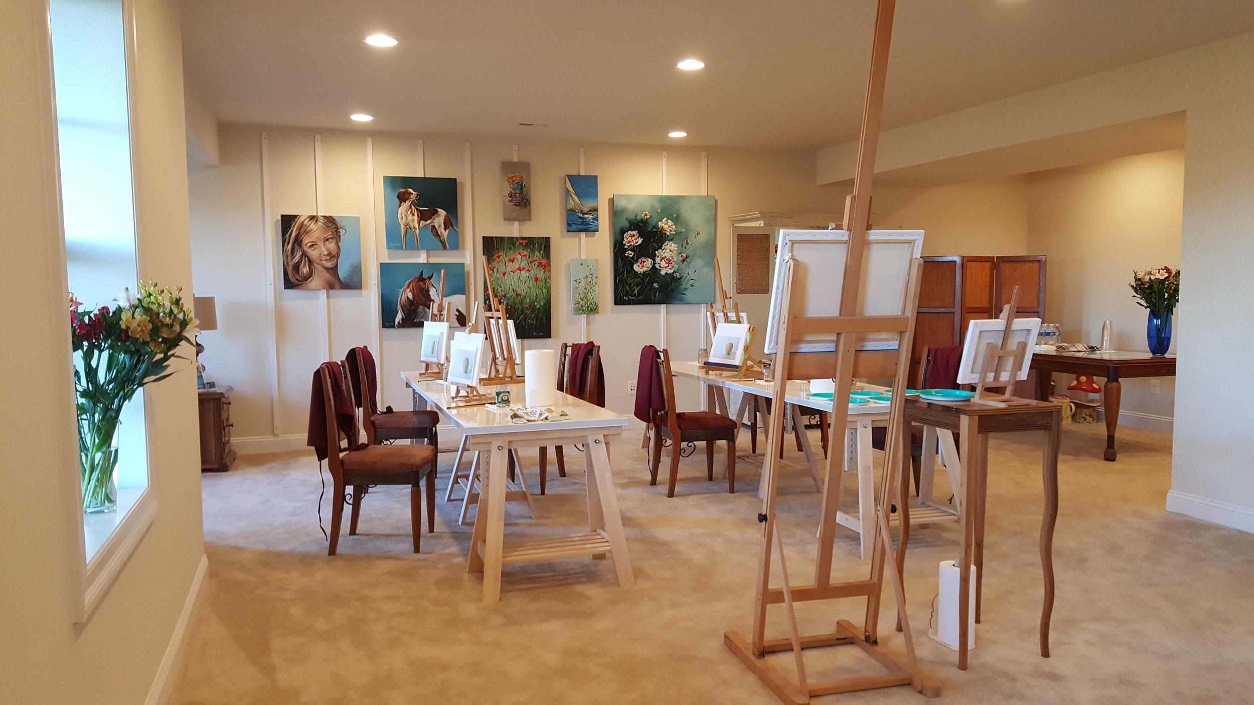 My studio in United States